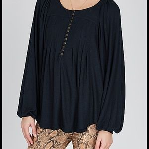 Free people Devin textured top sz xs black